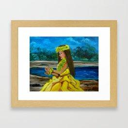 Hula on the Beach Framed Art Print