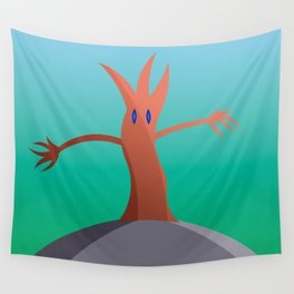 Living Tree On Hill Wall Tapestry
