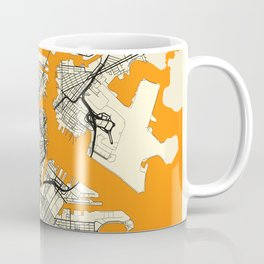 Boston Map Moon Coffee Mug