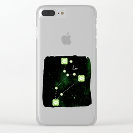 Leo Constellation in Peridot - Star Signs and Birth Stones Clear iPhone Case