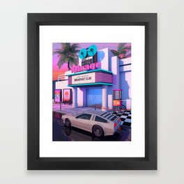 80s Cinema Framed Art Print