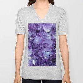 Amethyst Crystals Unisex V-Neck