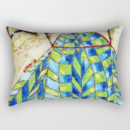 The Puppet: Abstract Acrylic Painting Rectangular Pillow