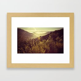 Botcher's Gap, Big Sur, CA Framed Art Print