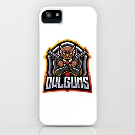 Owl Gunners Esport Mascot Logo iPhone Case