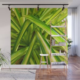 Spider Plant Leaves Wall Mural