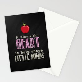 Big heart Pink Stationery Cards
