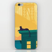 urban iPhone & iPod Skins featuring Urban jaguar by Roland Banrevi
