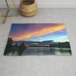Sunset Sky on Lake Rug