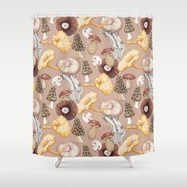 Mushroom Lovers Pattern Shower Curtain
