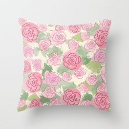 Secret Garden Throw Pillow