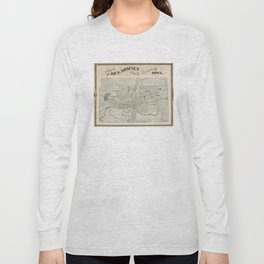 Vintage Map of Des Moines IA (1875) Long Sleeve T-shirt
