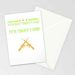 It's That I Did And Others Didn't Military Veteran Stationery Cards