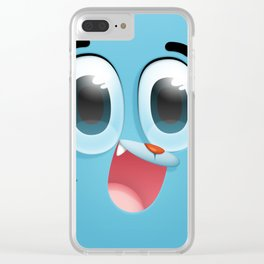 Gumball Face Clear iPhone Case