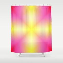 Yellow Cross Pink Star Shower Curtain
