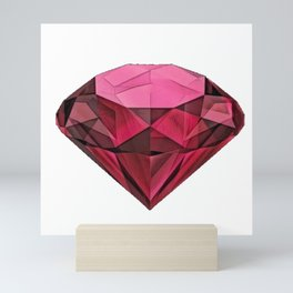 Ruby Blood Red Coloured Gemstone Corundum Gem Sapphires Mini Art Print