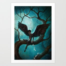 The Mysterious Mr. Spines : WINGS Art Print