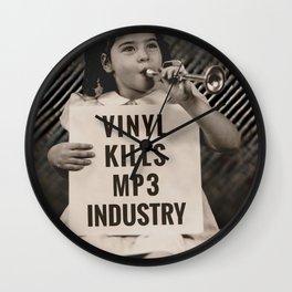 Vinyl Kills MP3 Industry Wall Clock