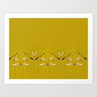 Catch the Snitch for Hufflepuff Art Print