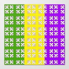 Tri -colored white fleur de lis Canvas Print