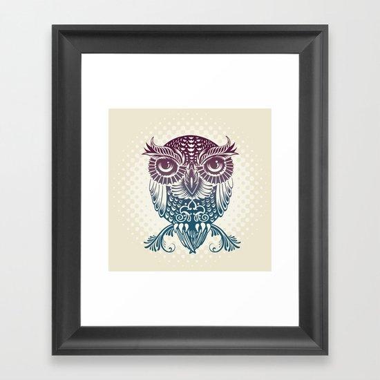Baby Egyptian Owl Framed Art Print