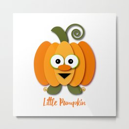 Halloween Little Orange Pumpkin Metal Print