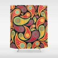 bohemian Shower Curtains featuring Bohemian Paisley  by Digi Treats 2