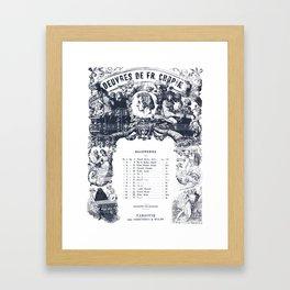 Frederick Chopin Nocturne art Framed Art Print