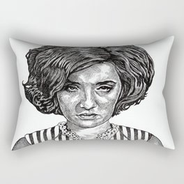 Big Hair Texas Trouble Rectangular Pillow