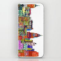 new york skyline iPhone & iPod Skins featuring new york city skyline by bri.buckley