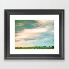 Field + Sky Framed Art Print