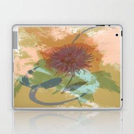 Autumnal Brushstrokes, Abstract Floral Art Laptop & iPad Skin