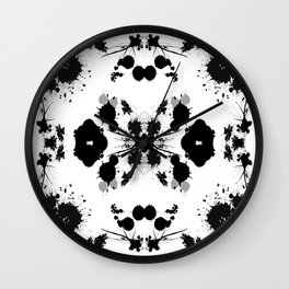 Rorschach 8 Wall Clock
