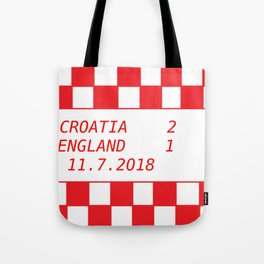 Croatia vs. England Tote Bag