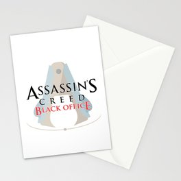 Assassin's Creed Black Office Stationery Cards