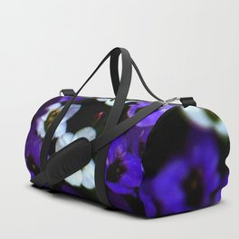 purple and white flowers Duffle Bag