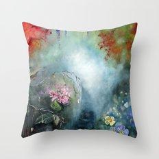 Spring paradise painting Throw Pillow