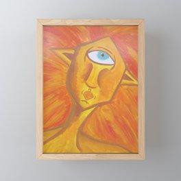 Angular Woman Framed Mini Art Print