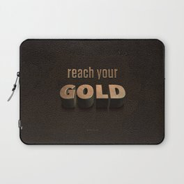 reach your GOLD Laptop Sleeve