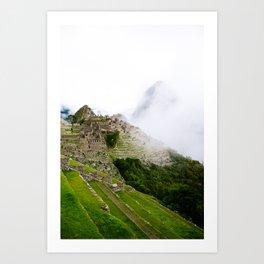 Misty Machu Picchu Art Print
