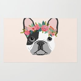 French Bulldog dog breed floral crown frenchies lover pure breed gifts Rug