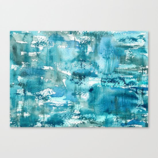 Turquoise blue passion    watercolor Canvas Print