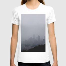Foggy Pittsburgh Skyline T-shirt