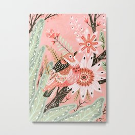 Little Pink Bird Metal Print