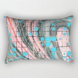 Pink and Blue Block Party Art by Sharon Cummings Rectangular Pillow