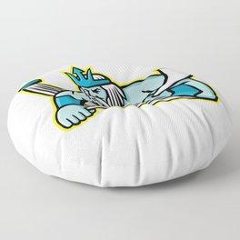 Poseidon Ice Hockey Sports Mascot Floor Pillow