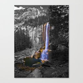 Vernal Falls, Yosemite National Park, Fall 2013, Selective Color Canvas Print