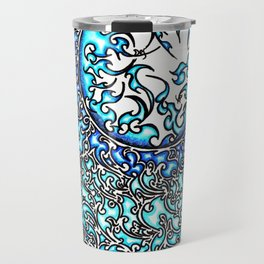 Blue Fire (2) Travel Mug