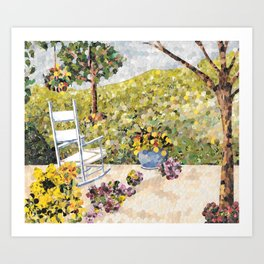 """My Front Porch"" Art Print"