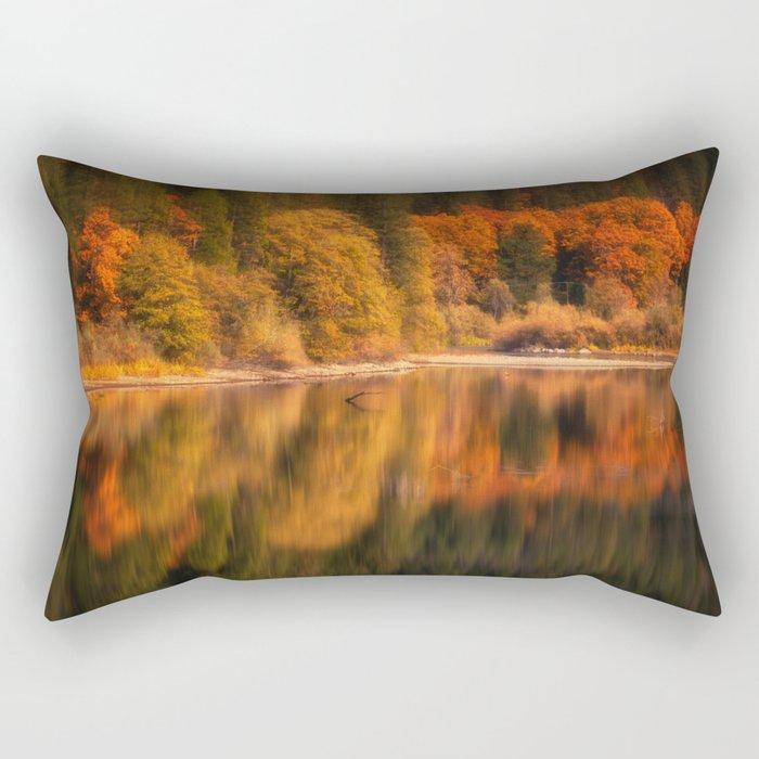 Natures Mirror reflecting Fall colors Rectangular Pillow